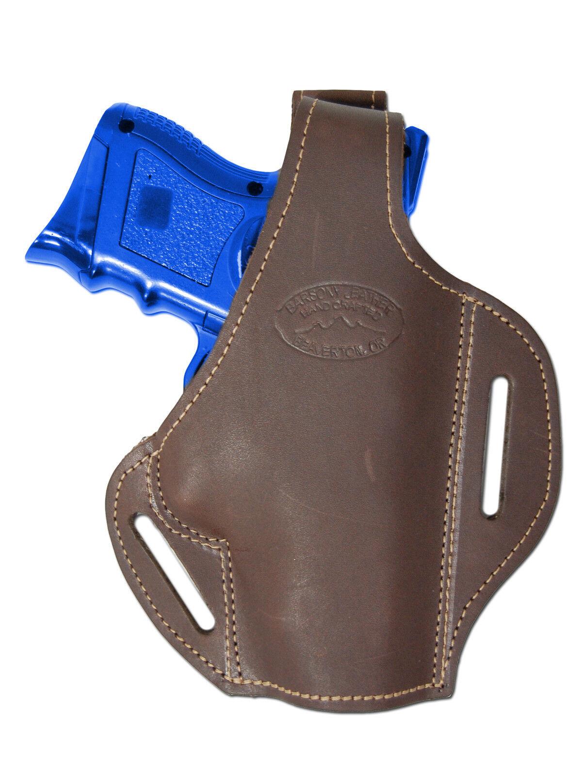 New Barsony Barsony New Braun Leder Pancake Gun Holster for Ruger Compact 9mm 40 45 760807