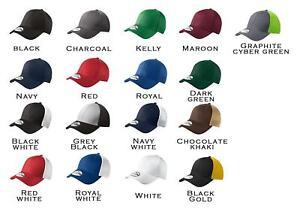 b9b763b1 12 Custom Logo Embroidered New Era 39 Thirty Stretch Mesh Hat Cap ...