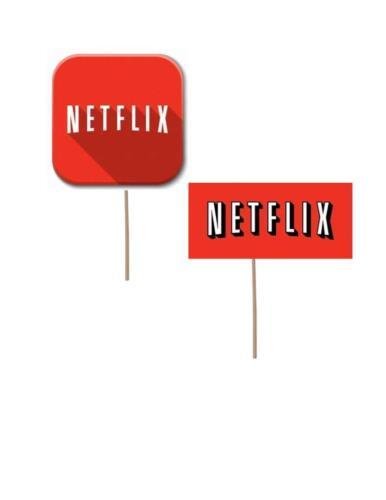Netflix theme Birthday Cupcake toppers teenager birthday decorations