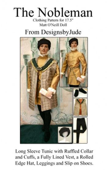 Nobleman Doll Clothes Sewing Pattern for Matt Rufus Sean , Tonner