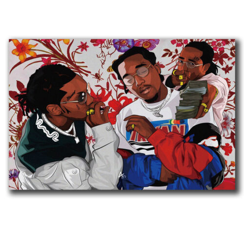 24x36 40inch E2986 Art Migos Flowers Poster Hot Gift
