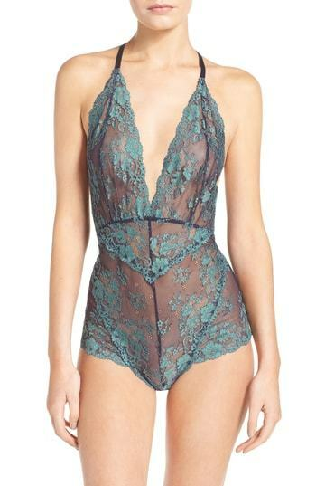 Free People 7510 Womens Navy Too Cute To Handle Bodysuit Size Medium