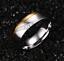 Anello-Fede-Fedina-Anello-Anelli-Fidanzamento-Nuziali-Cristallo-Oro-Acciaio-INOX miniatura 2