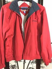 Port Authority Men's Cotton Blend Red Lightweight Winter Jacket Windbreaker J753