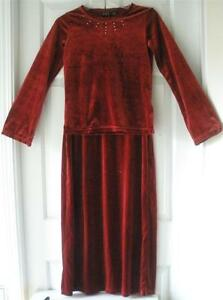 Childrens Place Girls Ruby Red Velour L S Top Long Skirt Holiday ... 1b5e864c0