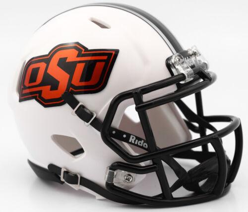 Oklahoma State Cowboys 2016 White NCAA Riddell Speed Mini Helmet