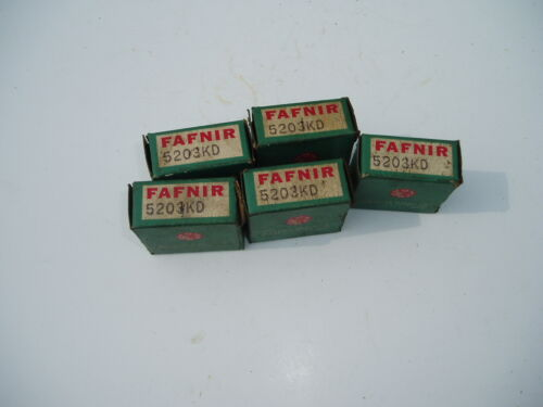 1 NOS Fafnir 5203KD sealed double row ball bearing size 17x40x18mm USA