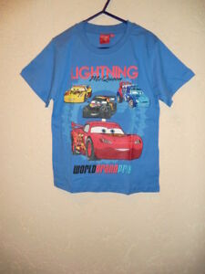DISNEY-CARS-T-SHIRT-Kurzarm-MIT-MOTIV-Farbe-Blau-Groesse-110-NEU-amp-OVP