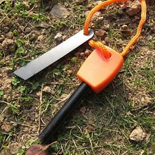 Camping Hunting Magnesium Flint And Steel Striker Survival Gear Fire Stick New