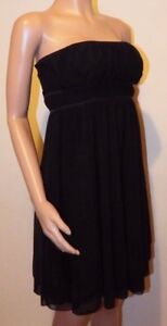 VICKY-MARTIN-strapless-black-cocktail-loose-fit-knee-length-dress-8-10-12-BNWT