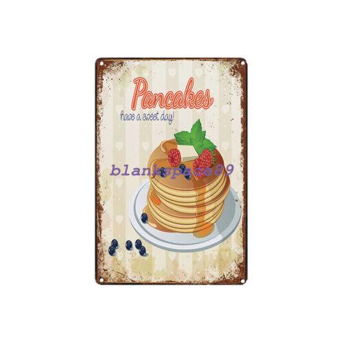 Metal Tin Sign pancakes Decor Bar Pub Home Vintage Retro Poster