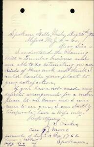 1890 Letter M.J. Shields and Co. Job Solicitation J.S.Parker