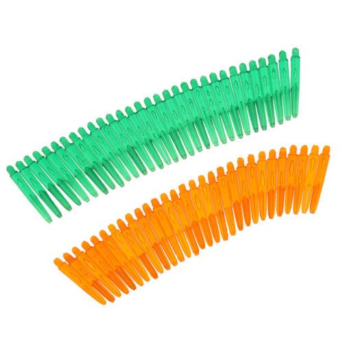 60Pcs 35mm 2BA Thread Plastic Dart Stem Shafts Soft Tip Darts Green /& Orange