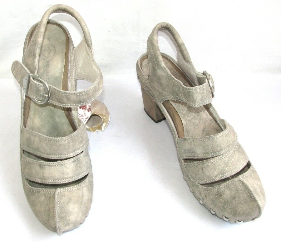 MOSQUITOS shoes original all leather cream moderate grey 41 MINT
