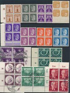 Stamp-Germany-Blocks-WWII-Fascism-War-Era-Hitler-Mozart-Ostland-Hitler-Mixed