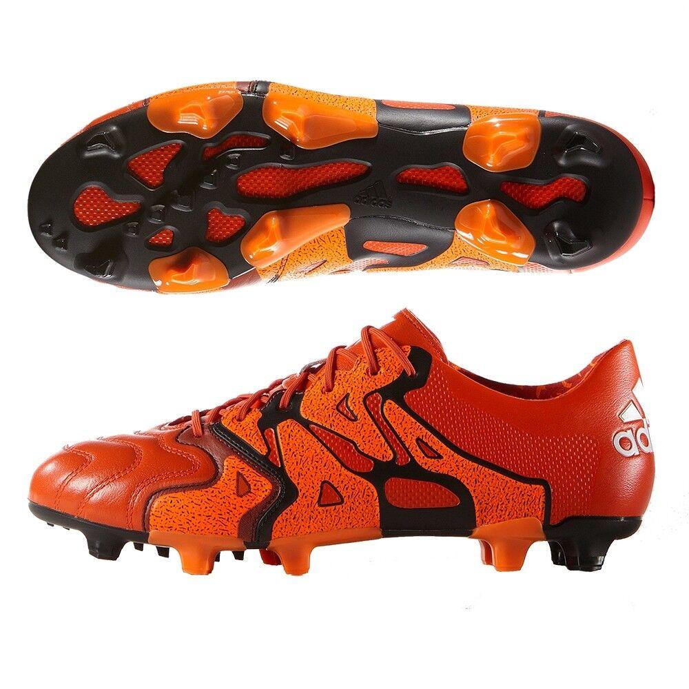 ADIDAS X 15.1 FGAG pelle [ ERL 40 23 ] Scarpe da calcio B26980 Arancione NEU &