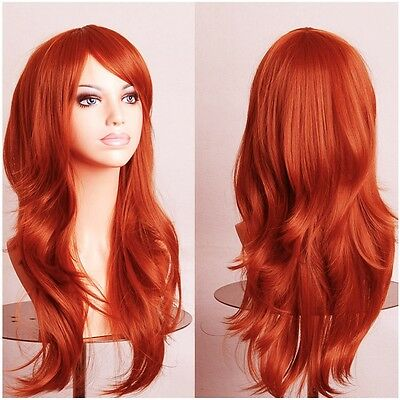 """Heat Resistant Cosplay Wigs 23"""" Curly Full Head Wig for Lady Party Wig by UPS g1"""