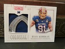 National Treasures Colossal Pro Bowl NFL Jersey Redskins Ryan Kerrigan 3/7  2013