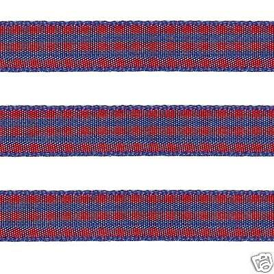 "5 yds 3//8/"" RED WHITE Polyester Checkered Check Scottish Gingham"