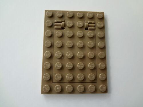 NEW Lego Dark TAN TRAP DOOR Boy//Girl Hidden Secret Dungen Floor Castle Ship Boat