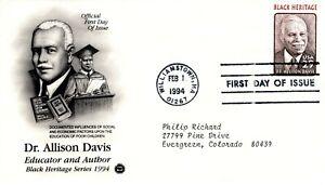 1994-Conmemorativo-Dr-Allison-Davis-Negro-Heritage-Pcs-Cachet-Maquina-Addr-FDC
