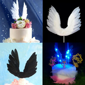 Swan-wing-Wedding-Cake-Topper-For-Valentines-Day-Decor-Feather-Party-Supplies-su