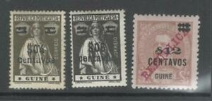 Portuguese-Guinea-1920-King-Charles-and-Ceres-Surcharged-MNH-OG
