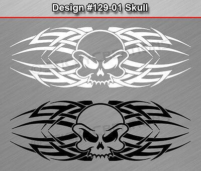 Design #129-01 SKULL Back Window Decal Sticker Vinyl Graphic Celtic Knot Tribal