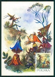 Specialty Philately Stamps Polen Mk 1962 MÄrchen HeinzelmÄnnchen Fairy Tales Carte Maximum Card Mc Cm Ci46 Excellent In Cushion Effect
