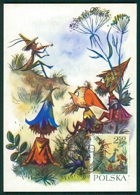 Maximumkarten Diverse Philatelie Kraftvoll Polen Mk 1962 MÄrchen HeinzelmÄnnchen Fairy Tales Carte Maximum Card Mc Cm Ci46 Fest In Der Struktur