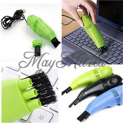 Computer Vacuum Mini USB Keyboard Cleaner Laptop Brush Dust Cleaning Kit CAEM