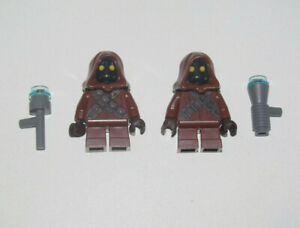 Lego-Lot-x2-Minifig-Figurine-Star-Wars-Jawa-Armes-NEW