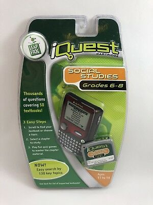 LeapFrog iQuest Cartridge: 6th-8th Grade Social Studies | eBay