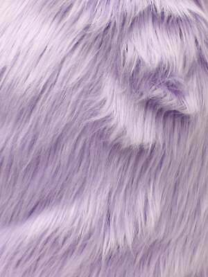 "Faux Fur Long Pile Curly Fabric ALPACA TAUPE Sold by the Yard 60/"" Wide"