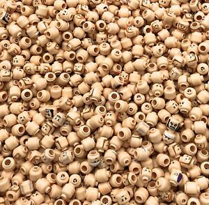 LEGO-LOT-OF-50-NEW-FLESH-COLORED-MINIFIGURE-MINIFIG-HEADS-STAR-WARS-MORE