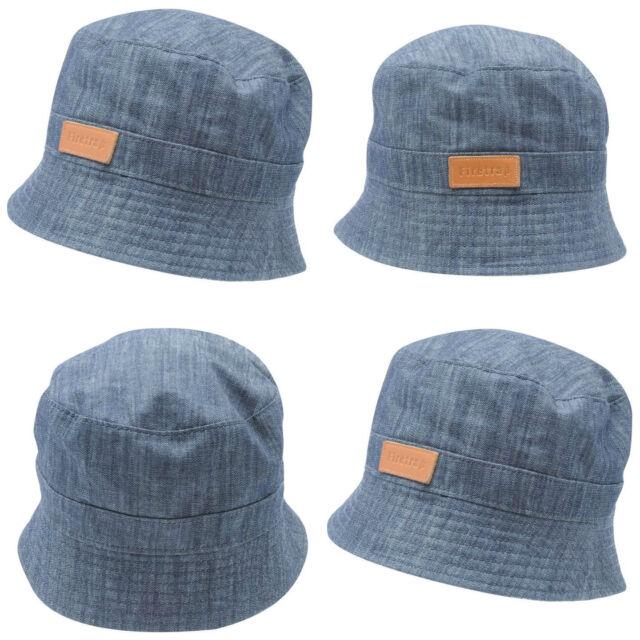 Firetrap Denim Bucket Hat Adults Mens Gents Lightweight Cotton Tonal ... 9b791e24a93a