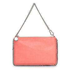 NWT Stella McCartney Coral Shaggy Deer Falabella Clutch Purse Shoulder Bag