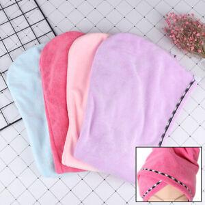 1-Microfiber-Towel-Quick-Dry-Hair-Magic-Drying-Turban-Wrap-Hat-Cap-Bathing-EP