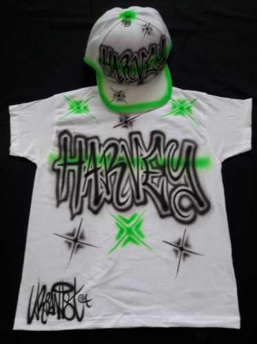 Urbanist custom graffiti Airbrushed Streetdance Snapback Adult Cap /& Tee