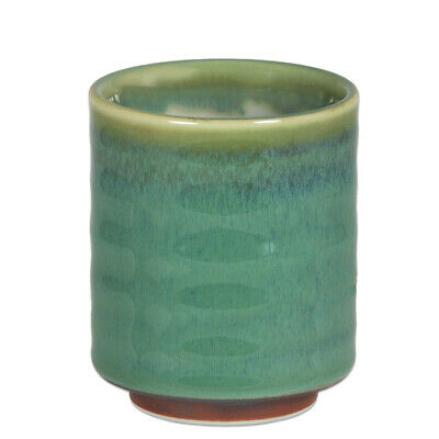 """Japanese Yunomi Sushi Tea Cup 3.75/"""" H Porcelain Spruce Blue Made in Japan"""