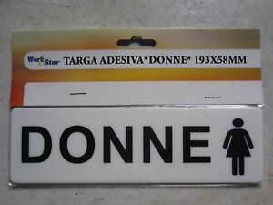 Cartello Per Bagno Signore : Targa cartello targhetta adesiva biadesivo toilette bagno donne in
