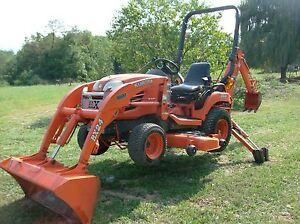 2007 Kubota Bx24 4x4 Tractor With Loader Mower Backhoe Ebay