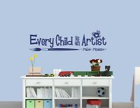 EVERY CHILD IS AN ARTIST - Picasso Quote Vinyl Wall Decal