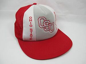 promo code b4964 50f39 Image is loading Vintage-Ohio-State-OSU-Buckeyes-Red-White-Mesh-