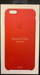Dettagli su Scatola Aperta Apple IPHONE 6s Plus IN Pelle Custodia Prodotto Rosso MKXG2ZM/A