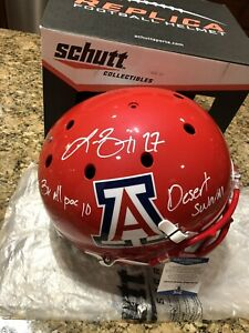 Lance-Briggs-Signed-amp-Inscribed-Full-Size-Schutt-Arizona-Helmet-Beckett-COA