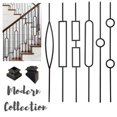 Iron Stair Balusters - Metal Stair Spindles - Satin Black ...