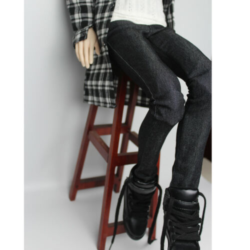 Stylish Black Jeans Pants for 70cm BJD Male SD DOD Dollfie Accessories
