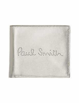 Fornito Paul Smith Perforati Argento Bi-fold Portafoglio Con Scatola = Nuovo Con Etichetta = Look ???? Ora!-mostra Il Titolo Originale Materiali Di Alta Qualità