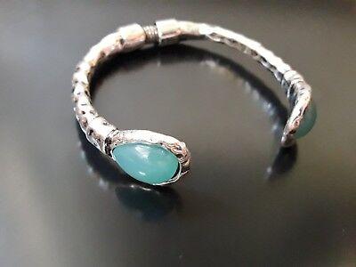 Pulsera Zamak alta calidad piedra resina VERDE AZUL bisuteria pulseras autentico